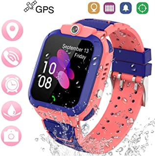 Winnes Reloj Inteligente Niño, Reloj Smartwatch Niños Niña GPS Soporte GPS + LBS de Doble Posicionamiento Geo-Cerca/intercomunicador de Voz Reloj Phone para niño (Rosa)