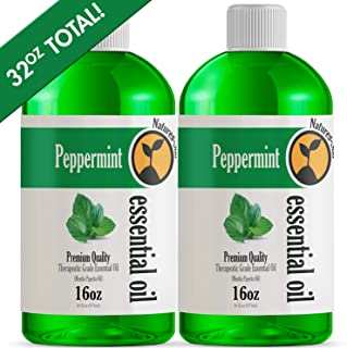 2 Pack - Bulk Size Peppermint Essential Oil (32OZ Total) - Therapeutic Grade Essential Oil - 32 Fl Oz - 2 Pack of 16oz Bottles