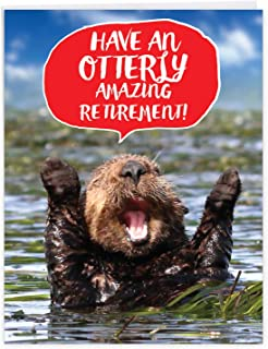 Best Otterly Awesome - Cute Sea Otter Retirement Card with Envelope (Big 8.5 x 11 Inch) - Adorable Farewell Stationery From All of Us - Cute Animal Appreciation Greeting, Farewell Congrats J6574ARTG-US Review