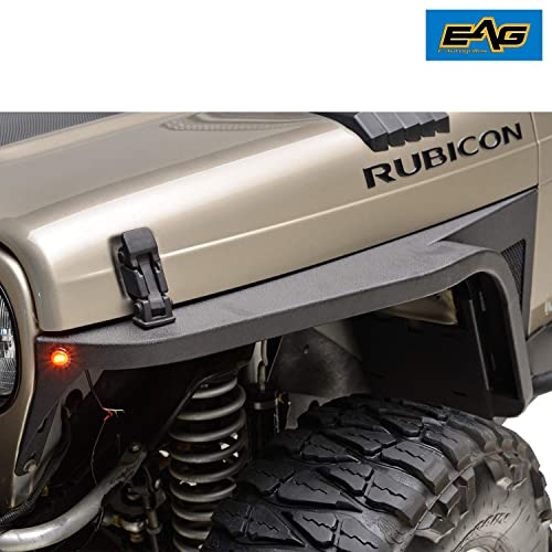 EAG Front Fender with Flair and LED Eagle Lights 97-06 Jeep Wrangler TJ