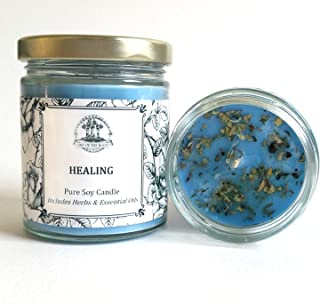Art of the Root Healing 8 oz Soy Candle for Grief, Sadness, Stress & Emotional Turmoil Herbal