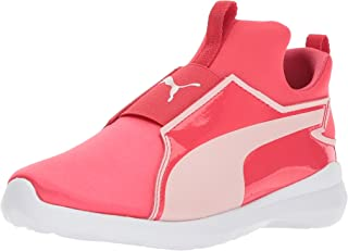 PUMA Kids' Rebel Mid Satin Sneaker