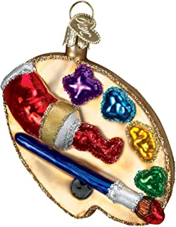 Old World Christmas Glass Blown Ornament with S-Hook and Gift Box, Profession Collection (Artist's Pallete)
