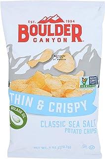 BOULDER CANYON Thin & Crispy Classic Sea Salt Potato Chips, 6 OZ