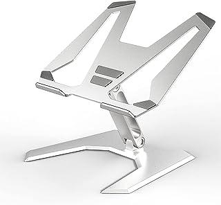 SOUNDANCE Laptop Stand, Height Adjustable Notebook Riser, Foldable Ergonomic Computer Desktop Holder for Desk, Aluminum La...