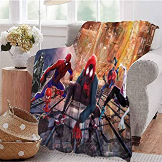 HouseDecor Super Soft Throws Spiderman Into The Spider Verse New China Poster Qa Microfiber Blankets for Beds 50X30 Inch