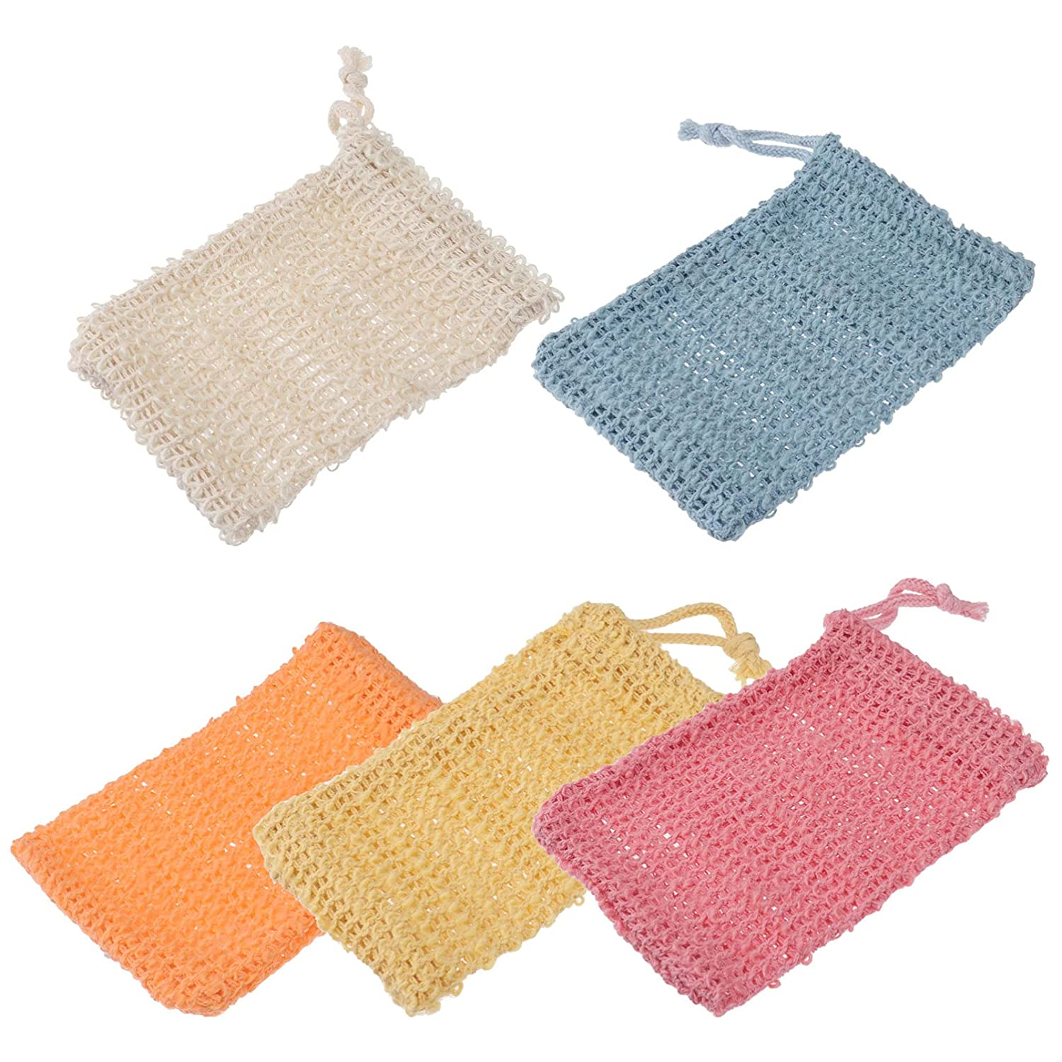 Beaupretty 5pcs Soap Saver Bag Opening large release sale Nippon regular agency Towel Foaming Mes and Exfoliating