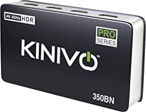 Kinivo 350BN 4K HDMI Switch 3-Port with IR Remote - Supports 4K 60Hz UltraHD, High Speed(18Gbps), HDR, HDCP 2.2 & 3D