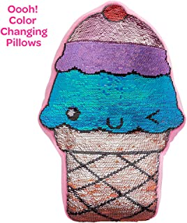 Adora Sequin Pillow Flip-out! Sequin Plush Play Ice Cream 15 inches x 12.5 inches, Colorful, Trendy & ADORAbly Cute Design