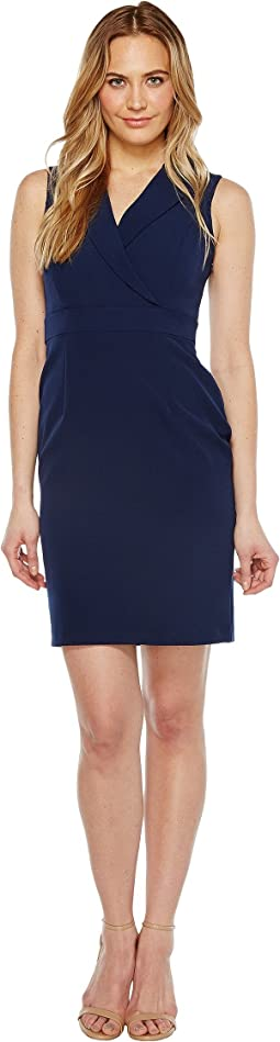Adrianna Papell Stretch Crepe Lapel Blazer Sheath Dress