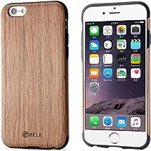 iPhone 6S Plus Case, iPhone 6 Plus Case, B BELK [Air To Beat] [Slim Matte] Non Slip Wood Tactile Extra Grip Rubber Bumper [Extremely Light] Soft Wood Back Cover, Fingerprint Free Flex TPU Case, Cherry