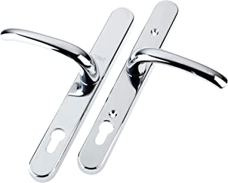 Yale P-PVC-RH-PC Universal Security Door Handle, Standard Security, 92mm centre, Adjustable Fixing Points, Built in Cylinder Guard, for PVCu doors, Chrome Finish, Visi Packed (Packaging may vary)