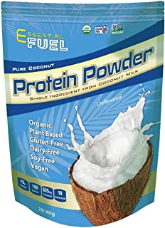 Protein Powder by Essential Fuel Pure Organic Vegan Coconut Protein Powder - Gluten Free, Dairy Free, Plant Based, Soy Fre...