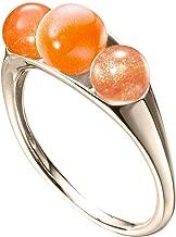 Sunstone ring by Majade. Oregon orange ring, Sunstone engagement ring, Tangerine stone crystal jewelry. Handmade solid 14k yellow gold sunstone ring. Minimalist unique gemstone engagement ring.