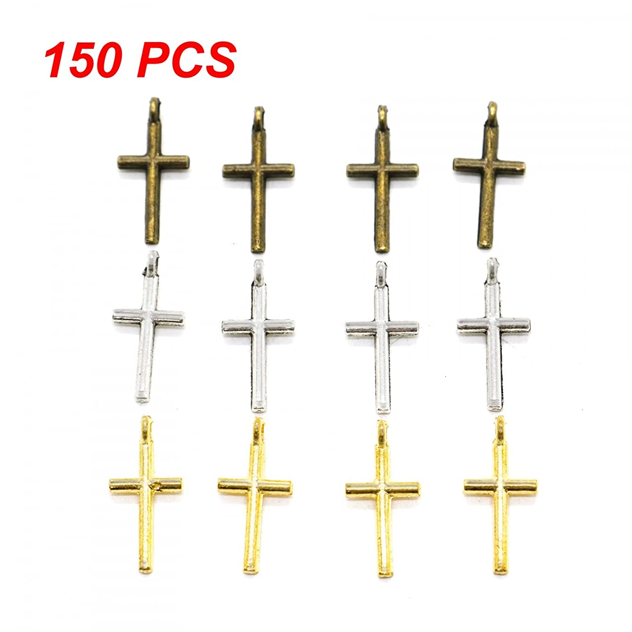 IDS IDA 150pcs Small Cross Beads DIY Charms Pendants