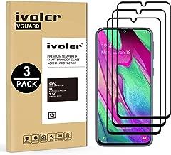 VGUARD [3 Pack] Pellicola Vetro Temperato per Samsung Galaxy A40, [Copertura Completa] Pellicola Protettiva Protezione per Schermo per Samsung Galaxy A40