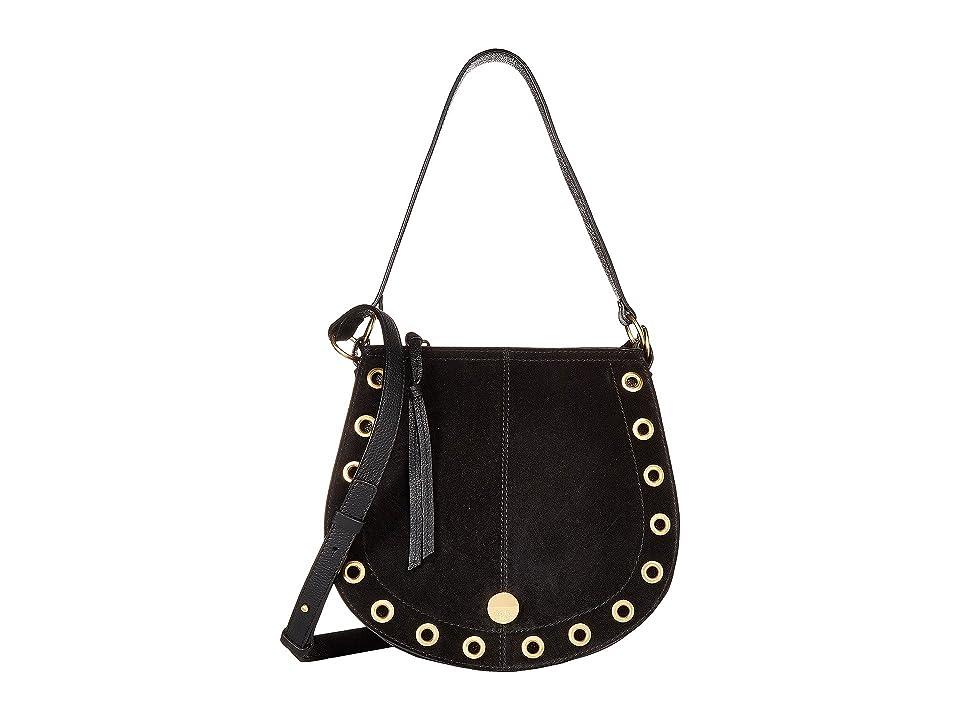 See by Chloe Kriss Small Suede Leather Hobo Bag (Black) Hobo Handbags