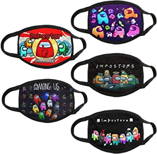 5 Pieces of Washable and Reusable dust-Proof Youth Cloth mask with Filter Bag (AM-01, One Size)