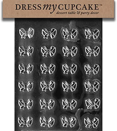 Dress My Cupcake Bite Size - Small Bows Chocolate Mold - M082 - Includes Melting &