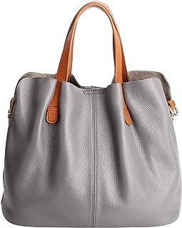 Womens Satchel Hobo Top Handle Tote Genuine Leather Handbag Shoulder Purse