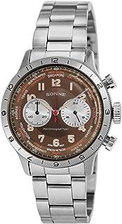 [SONNE]ゾンネ 腕時計 パイロットクロノグラフタイプI ブラウン文字盤 HI003BR メンズ
