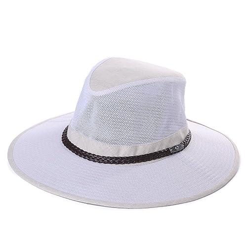 UPF 50+ Crushable Mesh Breezer Safari Sun Hat Chin Strap Wide Brim Fishing  Hiking Walking 22d315708bd