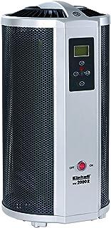Einhell WW 2000 R - Ola de calor de calefacción (2000 vatios, elemento de calefacción mica, termostato, control remoto, temporizador, parada, apagado automático)