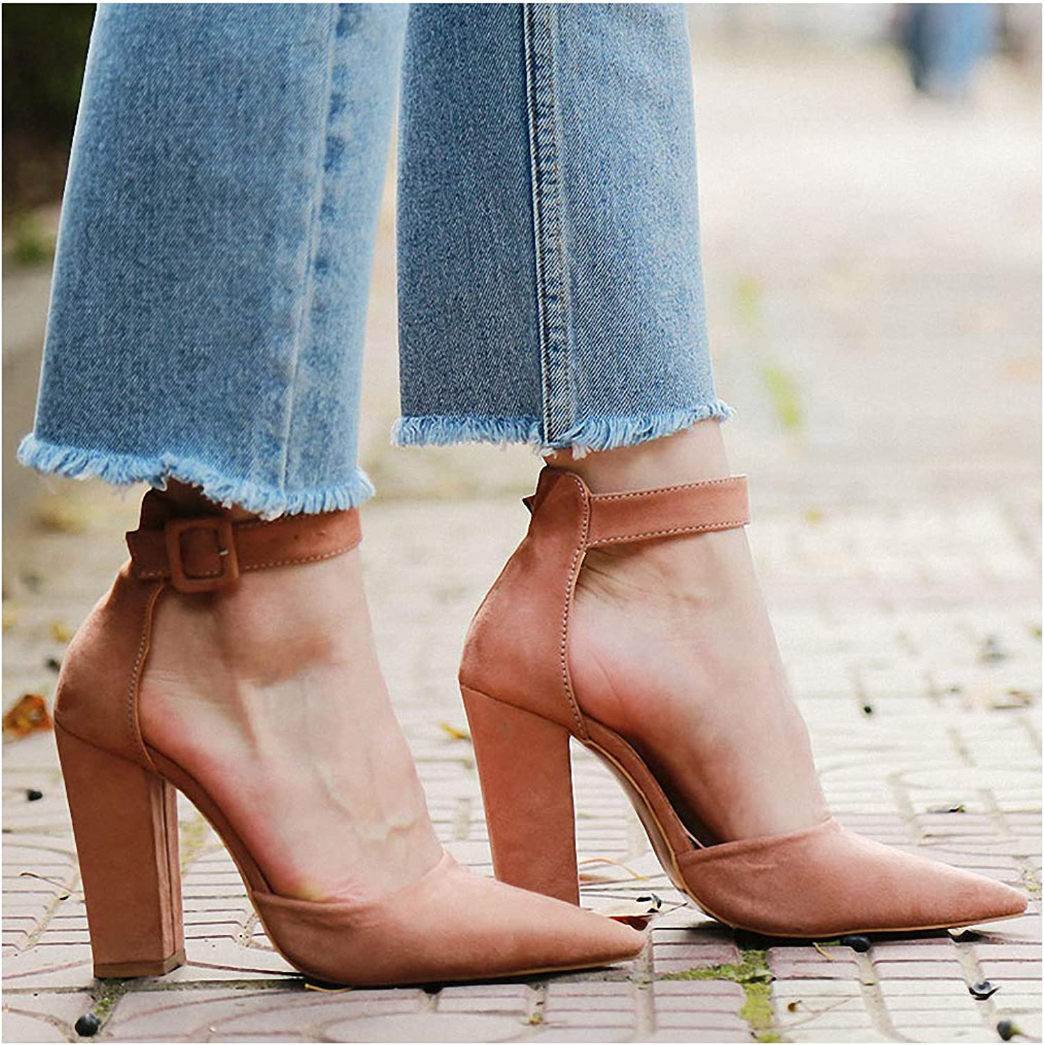 Tebapi Womens High-Heeled Pumps shoes Sexy Classic High Heels Women's Sandals Summer shoes Ladies Strappy Pumps Platform Heels Woman Ankle Strap shoes