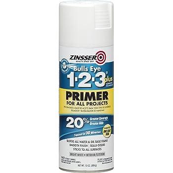 Rust-Oleum 272479 Zinsser Bulls Eye 1-2-3 Plus Spray Primer, White