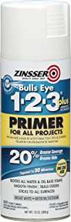 Rust-Oleum 272479 Zinsser Bulls Eye 1-2-3 Plus Spray Primer, White