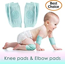 Set of 2 Baby Knee and Elbow Pads for Crawling Toddlers, Girls, Boys | Infant Pads for..