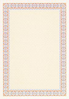 Decadry OSD4053 25F de papier pour certificat 115 g/m² Orange/bleu Format A4