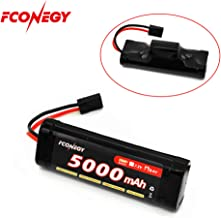 Fconegy NiMH Battery 8.4V 5000mAh 7-Cell Hump Pack with Traxxas Plug for RC Cars, RC Truck(One Pack)