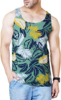 Veirdo Men's Sleeveless Cotton T-Shirt - Multicolor