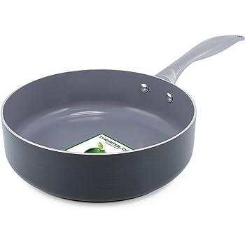 Greenpan Venice 24 cm Open Deep Fry Pan / Skillet, Grey Aluminium