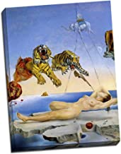 Panther Print Salvador Dali Tigers Canvas Print Art Poster 24 x18 Inches (61cm x 46cm)