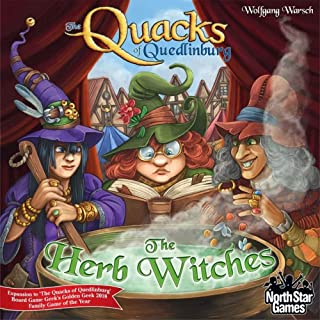 North Star Games The Quacks of Quedlinburg: The Herb Witches Expansion   Be The Best Quack Doctor in Town w/ More Potion-C...