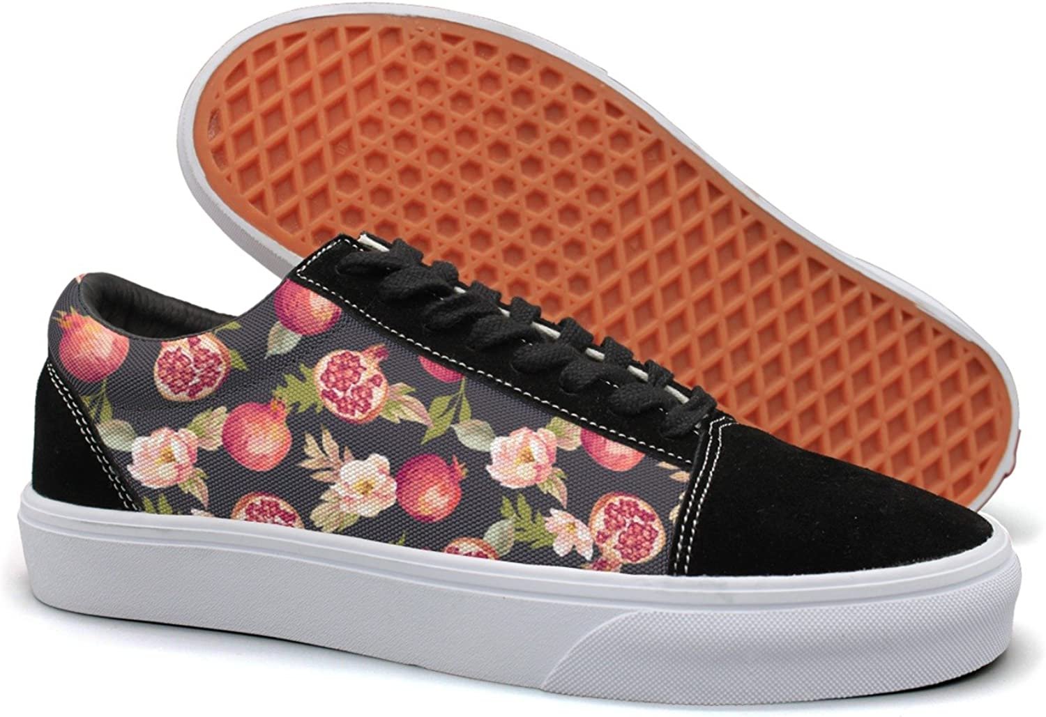 Brilliant Watercolor Pomegranate Flowers Women Casual Sneakers Slip-On Slip Spring Designer
