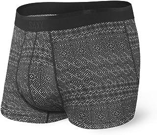 SAXX Underwear Men's Trunk Underwear – PLATINUM Men's Underwear – Trunk Briefs with Built-In BallPark Pouch Support - blac...