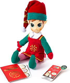 Portable North Pole Do-Good Elf Plush Toy Red with Personalized Video Messages from Santa