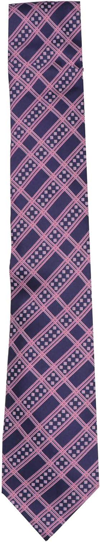 Stefano Ricci Men's Purple/Pink Luxury Collection Italian Silk Tartan Necktie - One Size