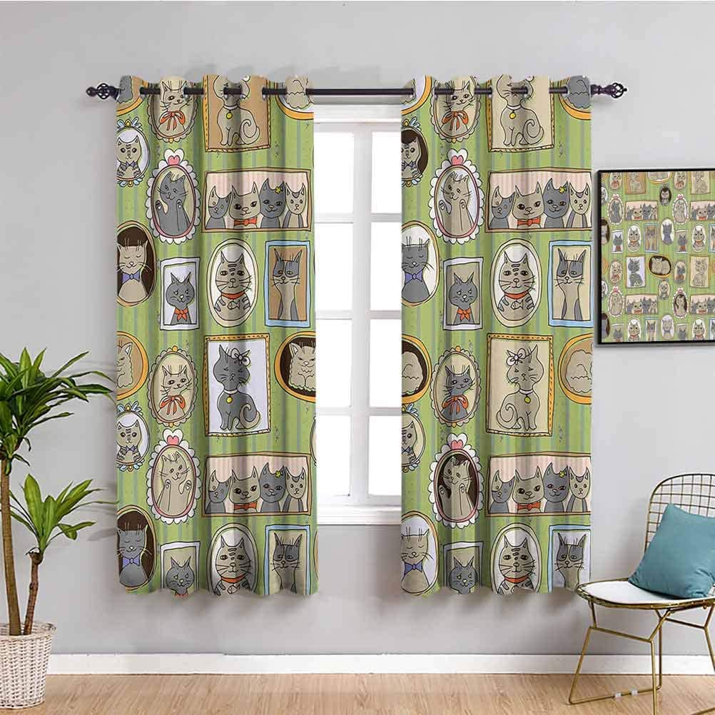 Cat Lover Decor Collection Blackout 爆買い新作 Liner Picture マート Curtain Framed