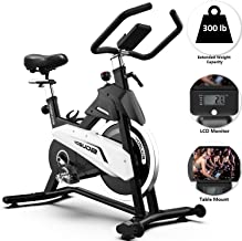 YOSUDA Stationary Exercise Bike 43Lbs Flywheel with Belt Drive Indoor Cycling Bike Adjustable(28-37inch) Inseam Height