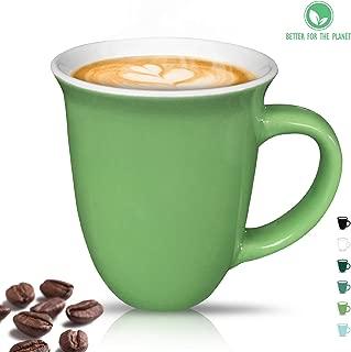 Sophie & Panda Stoneware Coffee Mug Ceramic Coffee Cups Tea Mug (1 Chartreuse Green Mug 16 Oz) - Enjoy a delightful drinking experience - Porcelain Coffee Mug Coffee Mugs (16 ounce)