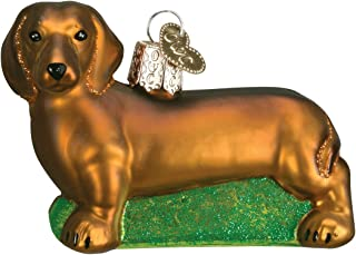 Old World Christmas Dog Collection Glass Blown Ornaments for Christmas Tree Dachshund