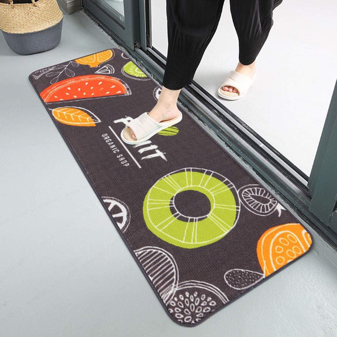 YUENA CARE 2-Piece Kitchen Mat Floor Bathroom Rugs Door Mat Home Decoration Lemon