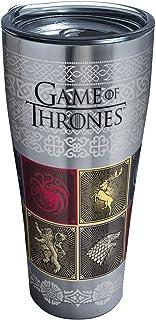 Tervis 1325326 HBO Game of Thrones - House Sigils Vaso de viaje aislado y tapa, 473 ml, tritan, transparente, tapa transpa...
