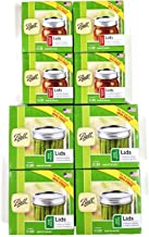 Ball Canning Lids Set of 4 Dozen Regular Mouth Lids and 4 Dozen Wide Mouth Lids - 4 Packs of each for a Total of 8 Dozens.