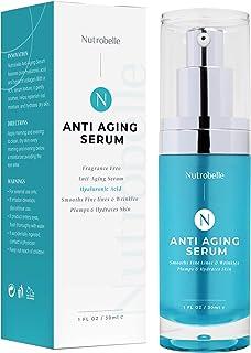 Nutrobelle Collagen Hyaluronic Acid Serum for Face – Anti Aging Serum Fragrance Free – Hyaluronic Acid Serum for Skin Inte...