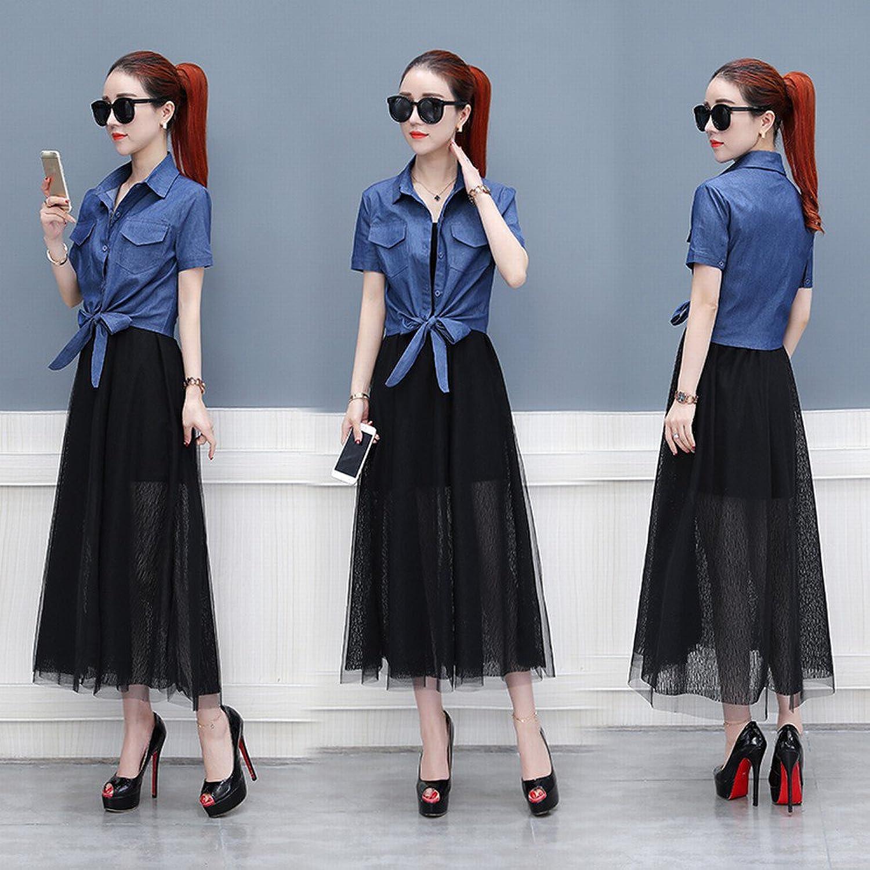 CWJ Women's Fashion Summer MidLength Skirt TwoPiece